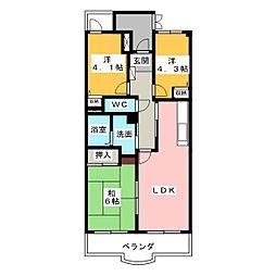 エクセリーヌ有松[4階]の間取り