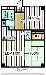 埼玉県戸田市上戸田5丁目の賃貸マンションの間取り