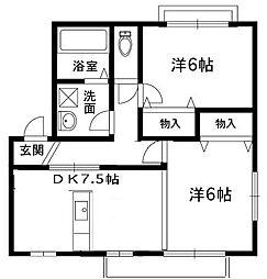 大阪府堺市堺区香ヶ丘町5丁の賃貸アパートの間取り