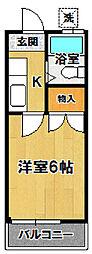 小野崎ハイツ[104号室]の間取り