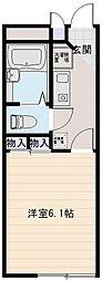 大阪府八尾市南久宝寺3丁目の賃貸アパートの間取り