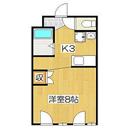 槙島センタービル[307号室]の間取り