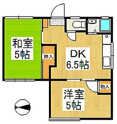シャトー吉岡[2階]の間取り