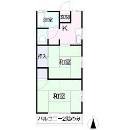 小野間アパート[3号号室]の間取り