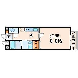 ル・ルゥ甲子園口[2階]の間取り