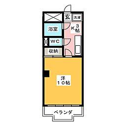 ロワヴェール美咲[3階]の間取り