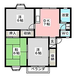 トランキルハウス[2階]の間取り