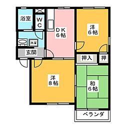 メゾン7A棟[2階]の間取り