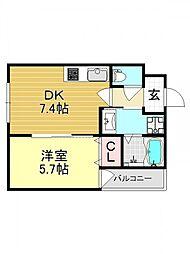 アッシュメゾン加美正覚寺IV[3O2号室号室]の間取り