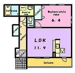 パークヴィラ[1階]の間取り