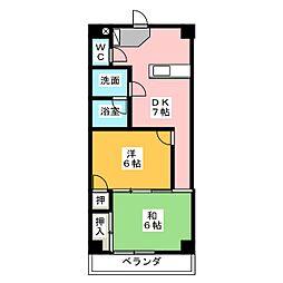 パール25[3階]の間取り