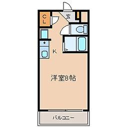 愛知県半田市青山1丁目の賃貸マンションの間取り