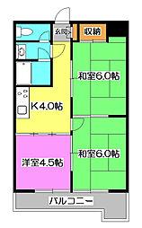 ビック武蔵野所沢[3階]の間取り