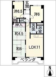 コ・ドミニオンろくしゃ503号[5階]の間取り