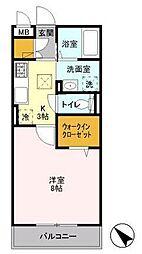 D-RoomAKI(ディールームアキ)[1階]の間取り