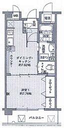 大阪府枚方市出口2丁目の賃貸マンションの間取り