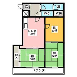 新日半田住吉ビル[2階]の間取り