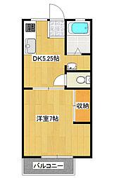 ハイソフトパナタウン東栄D[1階]の間取り