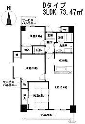 ハイシュタイン堀江[10階]の間取り