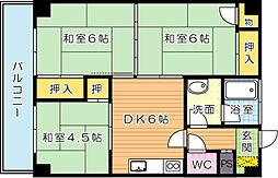 第3丸三ビル[3階]の間取り