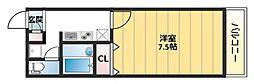 アンプルールフェール寿[1階]の間取り