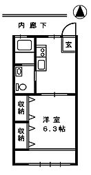 サクラハイツ[2階]の間取り