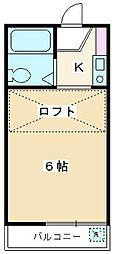リーフデザインハウス朝霞台[103号室]の間取り