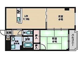 デイグラン桃山台[2階]の間取り