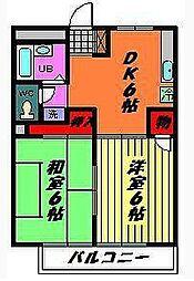 コスモ・マンション[3階]の間取り