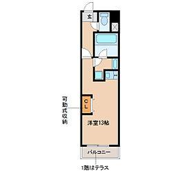 兵庫県尼崎市立花町2丁目の賃貸アパートの間取り