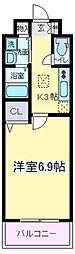 オーク帝塚山[103号室]の間取り