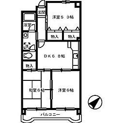 平田マンション[103号室]の間取り