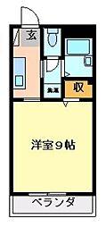 フィネス佐古[2階]の間取り