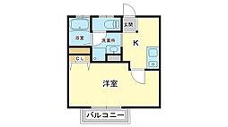 アパートメントハウス京口[1階]の間取り