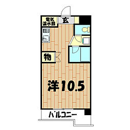 神奈川県横浜市泉区緑園1丁目の賃貸マンションの間取り