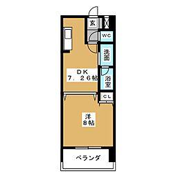 サンモール菊井[10階]の間取り