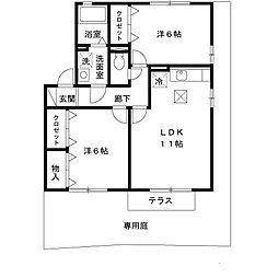 滋賀県高島市今津町桜町2の賃貸アパートの間取り