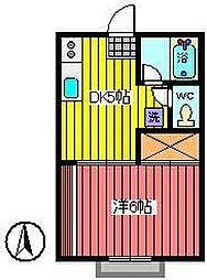 埼玉県さいたま市南区文蔵1丁目の賃貸アパートの間取り