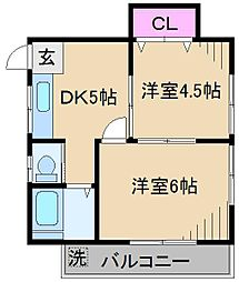岡野ハイム[3階]の間取り