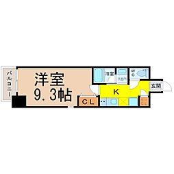 レジデンシア鶴舞公園 3階1Kの間取り