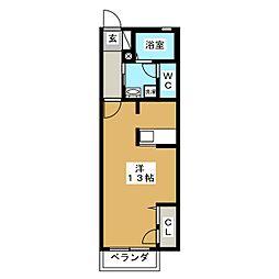 シャーメゾン悠[1階]の間取り