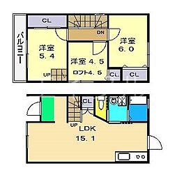 [一戸建] 高知県高知市横浜西町 の賃貸【高知県 / 高知市】の間取り