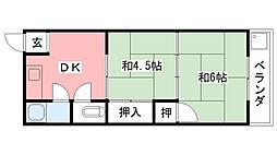 福寿荘[106号室]の間取り