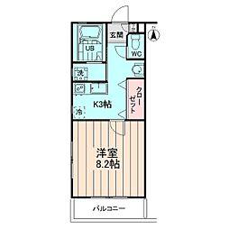 東京都世田谷区若林3丁目の賃貸マンションの間取り