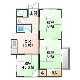 [一戸建] 岡山県岡山市南区藤田 の賃貸【/】の間取り