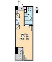 ミューリエ恵比寿[4階]の間取り