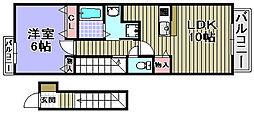 ハーブハウス[202号室]の間取り