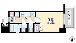 レジュールアッシュ梅田リュクス[8階]の間取り
