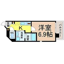 KマンションつるまいⅡ[5階]の間取り