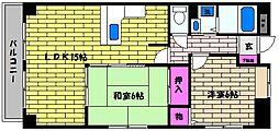 芦屋宮塚ハイツ[402号室]の間取り